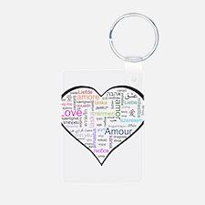 Heart Love in different langu Keychains