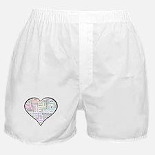 Heart Love in different langu Boxer Shorts