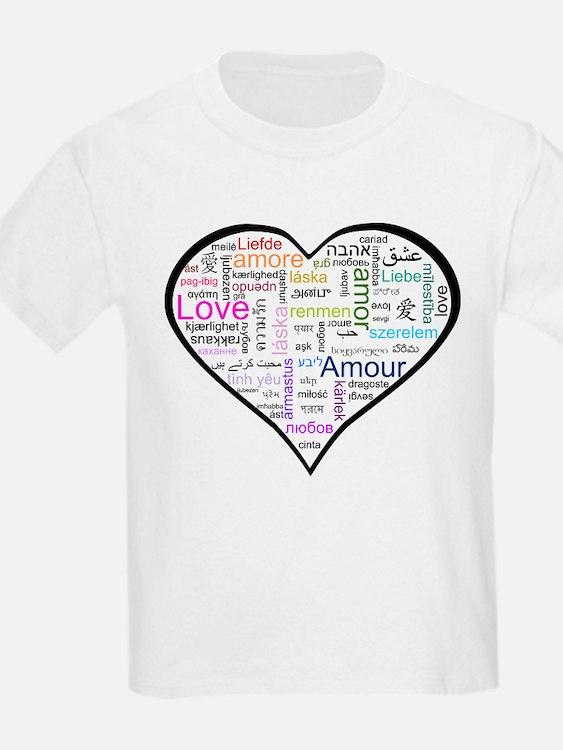 Heart Love in different langu T-Shirt