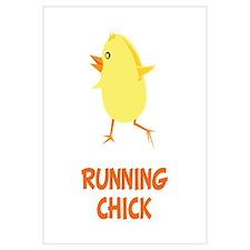 Running Chick Wall Art