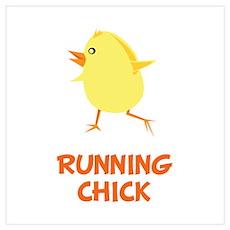 Running Chick Wall Art Poster