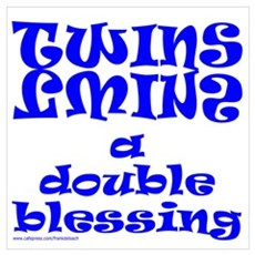 TWINS A DOUBLE BLESSING Wall Art Poster