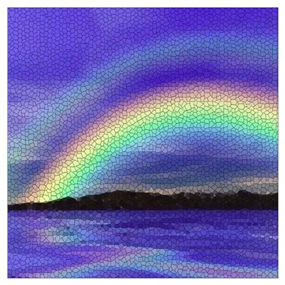 DOUBLE RAINBOW MOSAIC PICTURE Wall Art Poster
