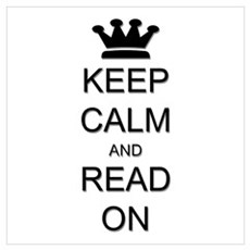 Keep Calm and Read On Wall Art Framed Print