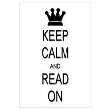 Keep Calm and Read On Wall Art