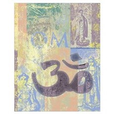 Om Abstract Wall Art Poster