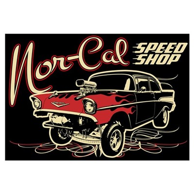 Nor-Cal Chevy Gasser Wall Art Framed Print