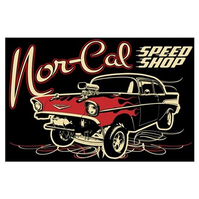 Nor-Cal Chevy Gasser Wall Art Poster
