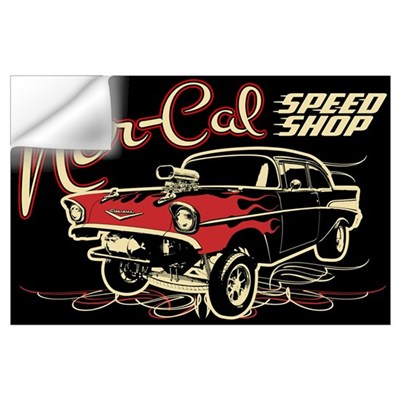 Nor-Cal Chevy Gasser Wall Art Wall Decal