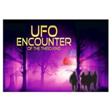 UFO Encounter Wall Art Poster