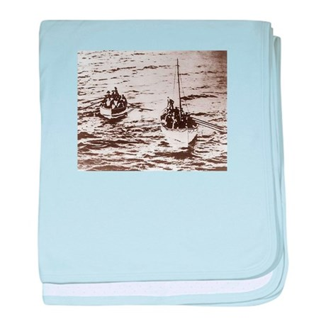 Lifeboats Arriving at the Carpathia baby blanket