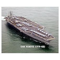 USS NIMITZ Wall Art Poster