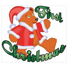 First Christmas Bear Wall Art Poster
