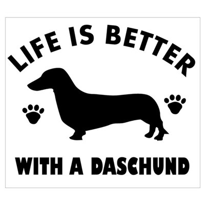 Daschund Design Wall Art Poster