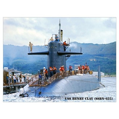 USS HENRY CLAY Wall Art Poster