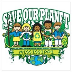 Earth Kids Mississippi Wall Art Poster