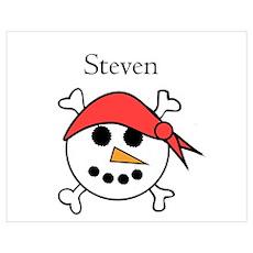 Steven - Snow Pirate Wall Art Poster