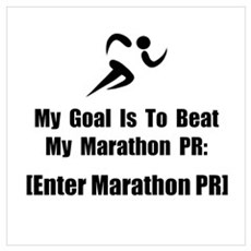 Marathon PR [Personalize It!] Wall Art Poster