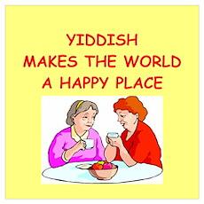 yiddish Wall Art Poster