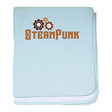 Steampunk baby blanket