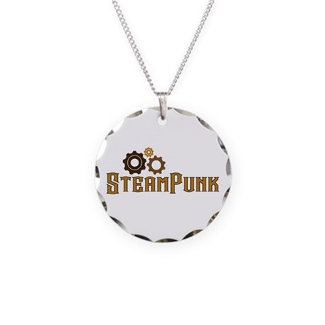 Steampunk Necklace Circle Charm