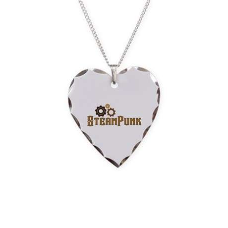 Steampunk Necklace Heart Charm