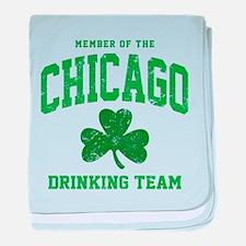 Chicago Drinking baby blanket
