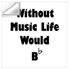 Music B Flat Wall Art Wall Decal