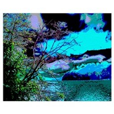 Lake Whatcom Fantasy Wall Art Poster