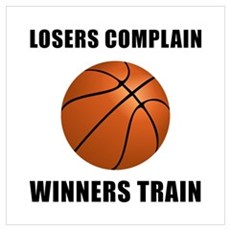 Basketball Winners Train Wall Art Framed Print