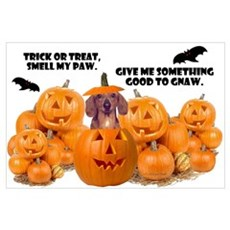 Trick Or Treat (Dachshund) Wall Art Poster