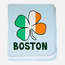 Boston Irish baby blanket