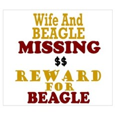 Wife & Beagle Missing Wall Art Poster