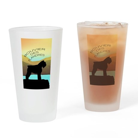 Bouvier By The Sea Drinking Glass