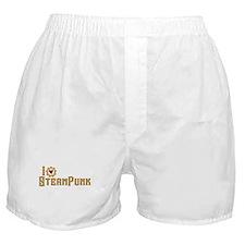I Love Steampunk Boxer Shorts