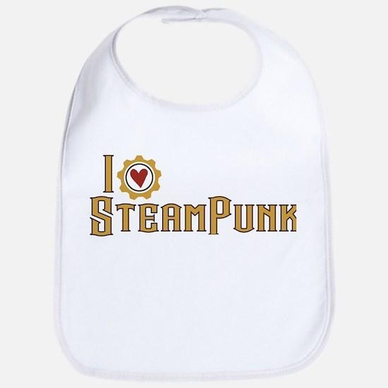 I Love Steampunk Bib