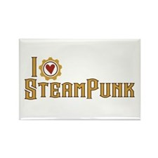 I Love Steampunk Rectangle Magnet