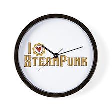 I Love Steampunk Wall Clock