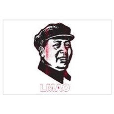 Mao Zedong LMAO Wall Art Framed Print