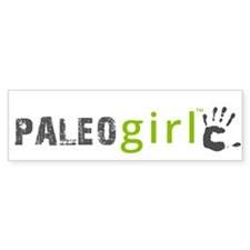 Paleo Girl Bumper Sticker