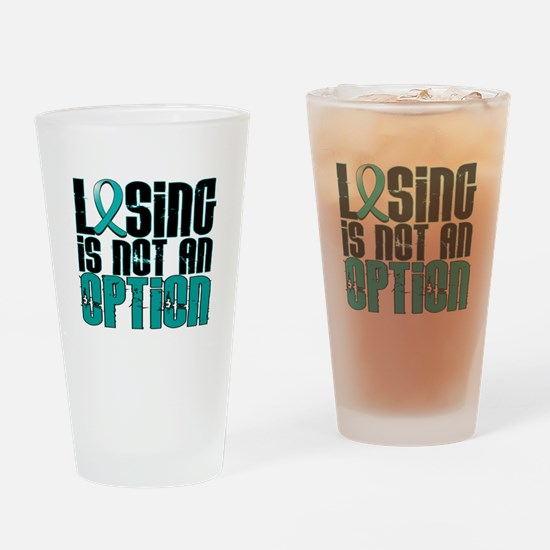 Losing Is Not An Option PKD Drinking Glass