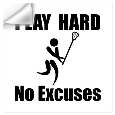 Lacrosse Play Hard Wall Art Wall Decal