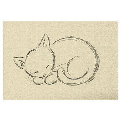 Sleeping Kitten Wall Art Framed Print