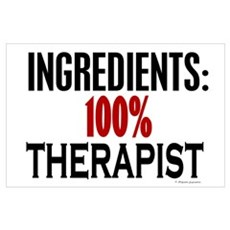 Ingredients: Therapist Wall Art Poster