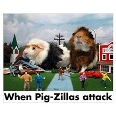 Pig-Zillas Poster Poster