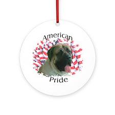 Mastiff Patriotic 15 Ornament (Round)