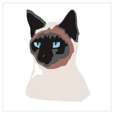 Blue-Eyed Kitty Wall Art Poster