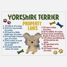 Yorkshire Terrier Property Laws 4 Wall Art