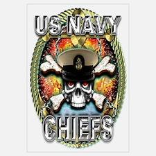 US Navy Chiefs Skull Wall Art