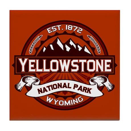 Yellowstone Crimson Tile Coaster